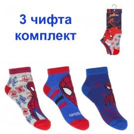 Къси чорапи Spiderman 3 бр.