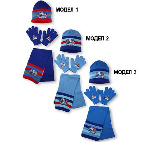 Шапка, шал и ръкавици Paw Patrol