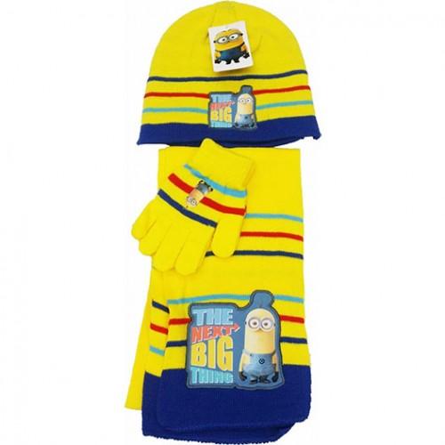 Комплект шапка, шал и ръкавици Миньоните