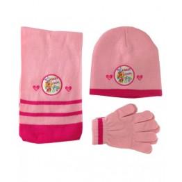 Комплект шапка, шал и ръкавици Скай