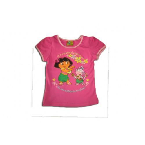 Розова блуза Дора с везана коса
