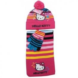 Комплект шапка, шал и ръкавици Hello Kitty