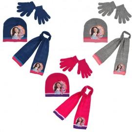 Комплект шапка, шал и ръкавици Сой Луна