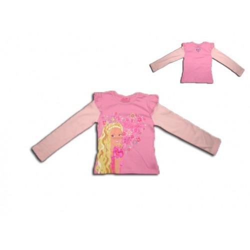 Страхотна блузка на Барби с къдрички на ръкава