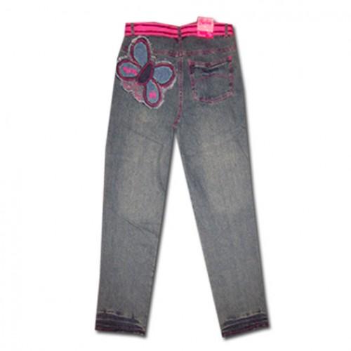 Дънки Барби с розов колан и пеперуда