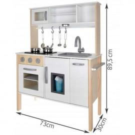 Детска дървена кухня на батерии