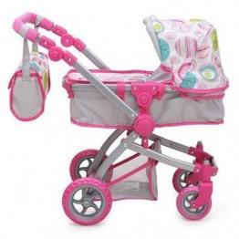 Количка за кукли Pink Rose с чанта