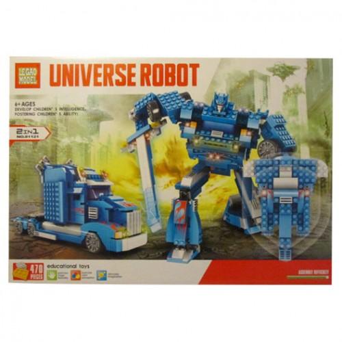 Голям конструктор робот 2 в 1 470ел.