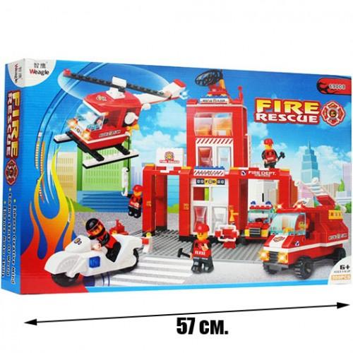 Огромен конструктор пожарна