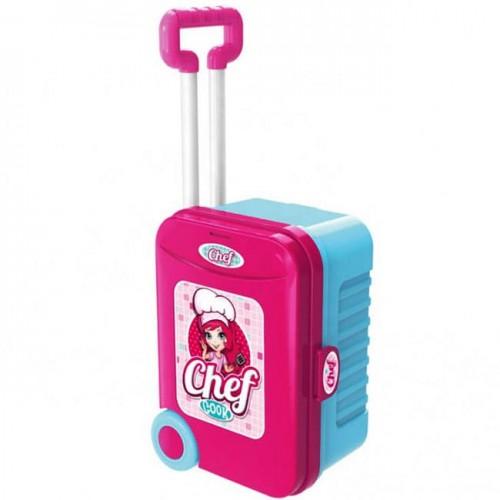 Розова детска кухня в куфар