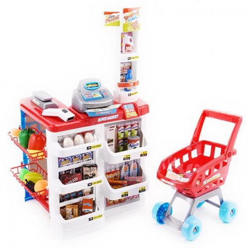 Детски магазин с количка за пазаруване