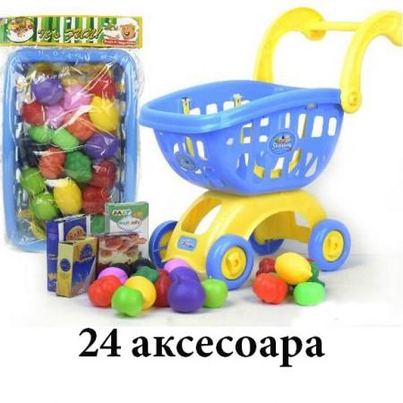Пазарска количка с 24 аксесоара