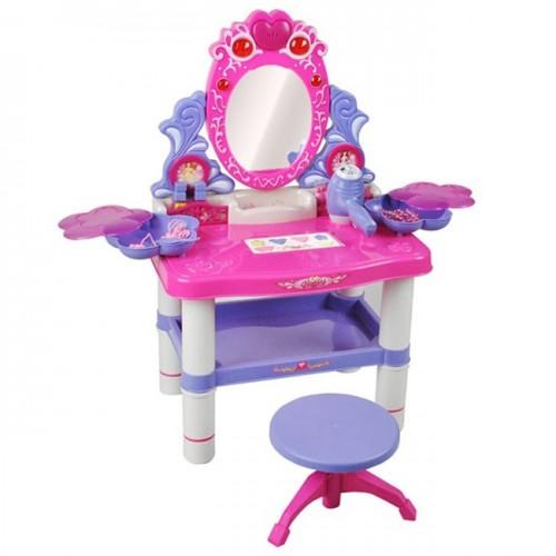 Тоалетка със столче и рафт