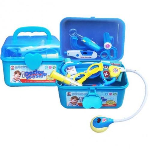 Докторски комплект на батерии - син