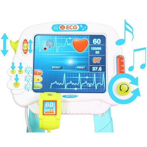 Докторски комплект на батерии с ЕКГ