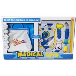 Лекарски комплект с чанта - син
