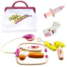 Лекарски комплект с чанта - розов