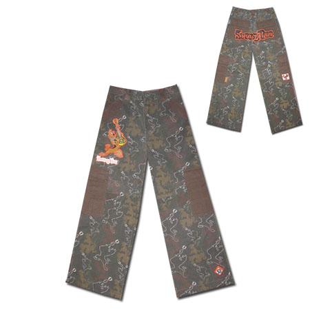 Камуфлажен панталон със Скуби Ду с избелял ефект